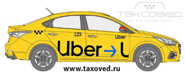 Брендирование Убер Uber на магните: магнитные наклейки Убер